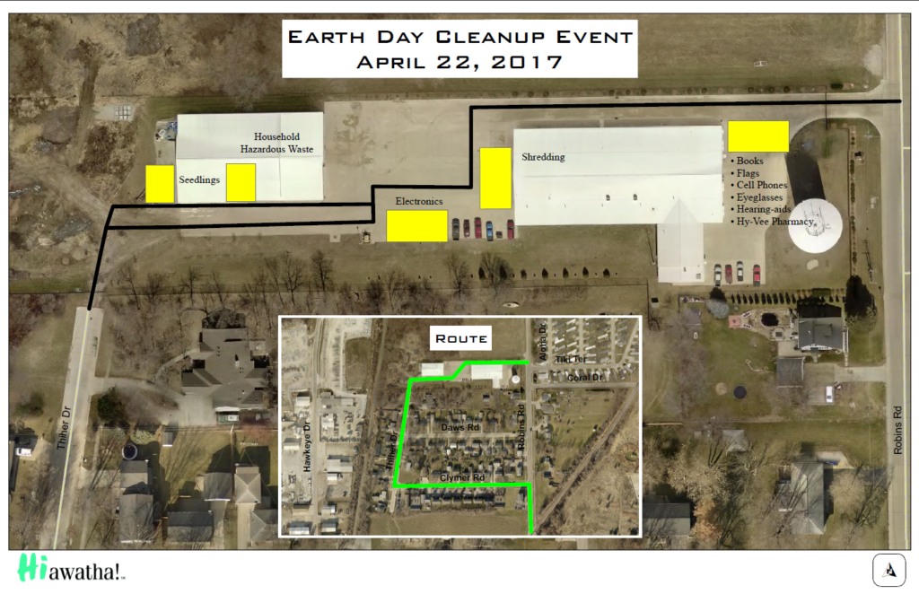 Earth Day Map Route