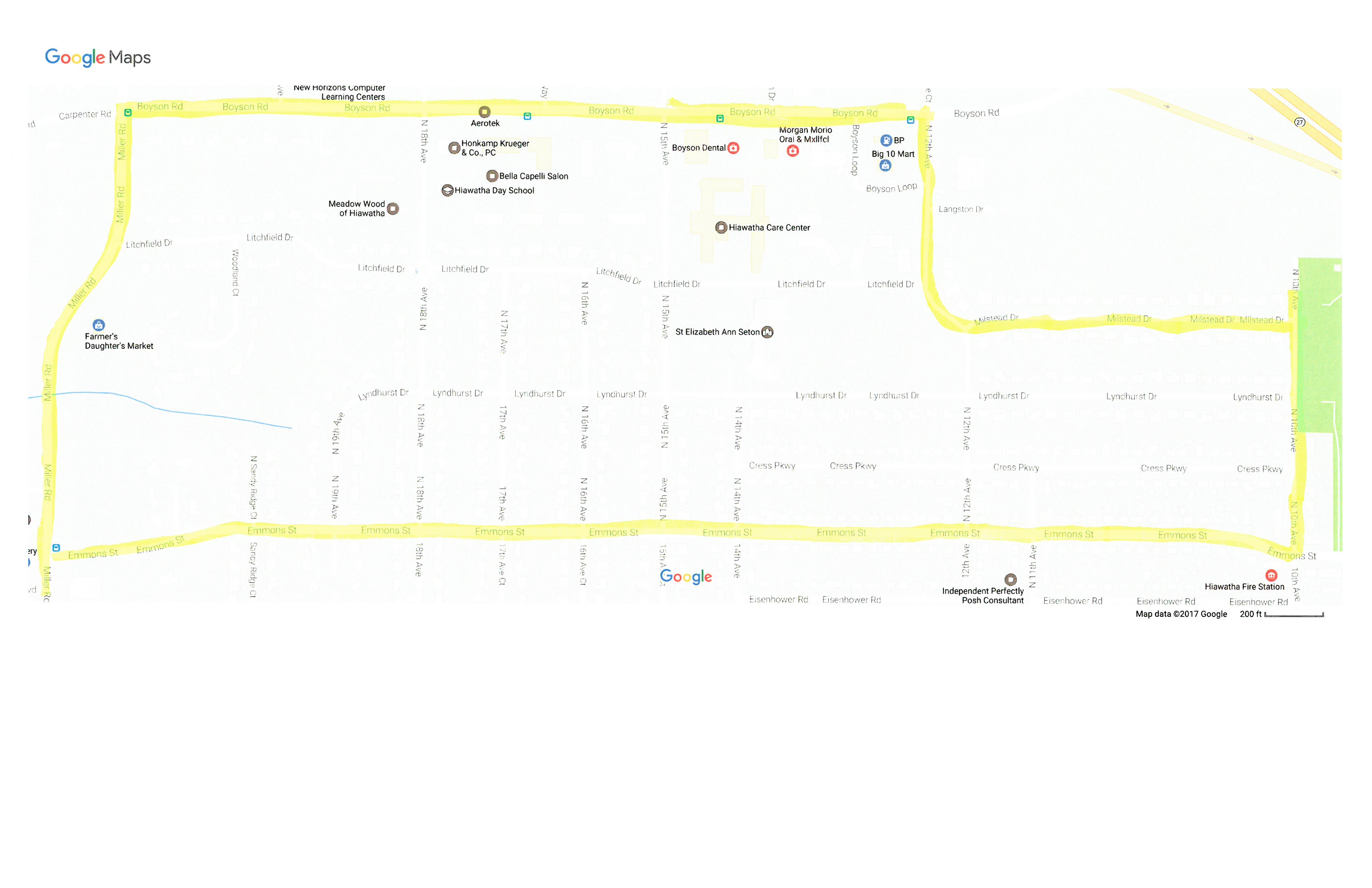 2017 sidewalk assessment map 2