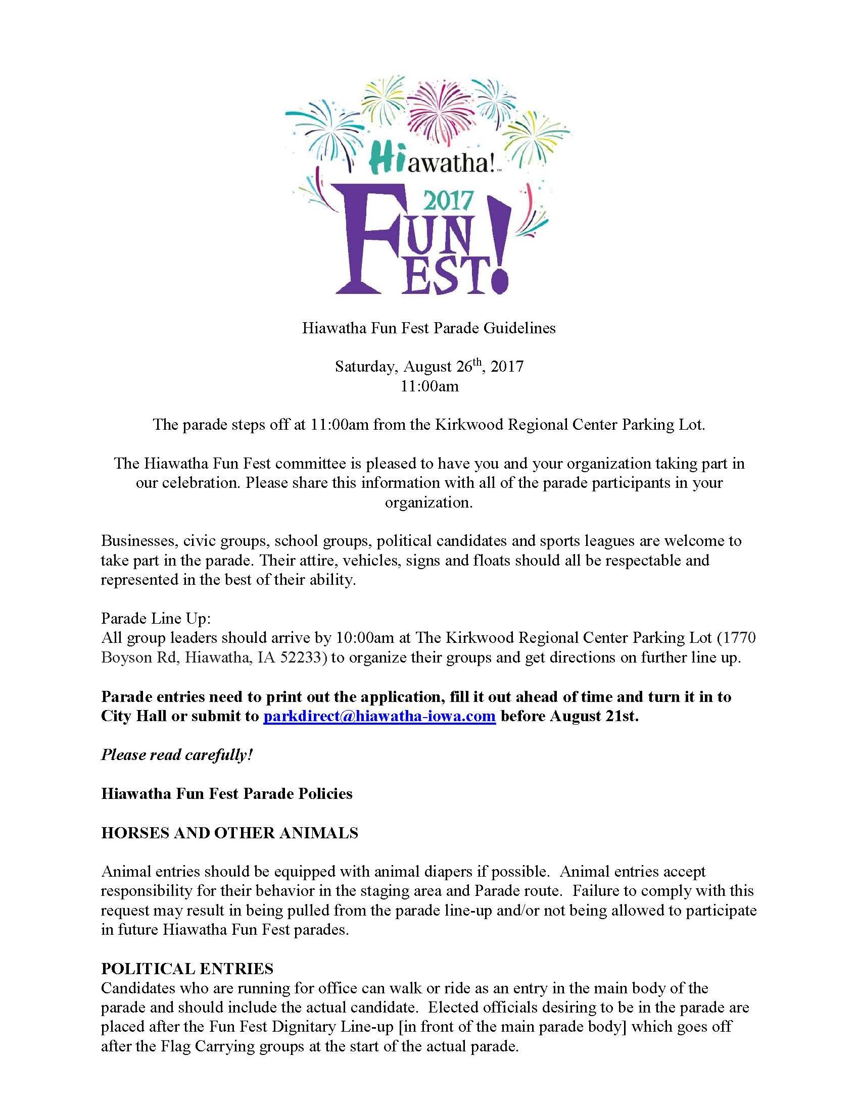 Hiawatha Fun Fest Parade Guidelines_Page_1