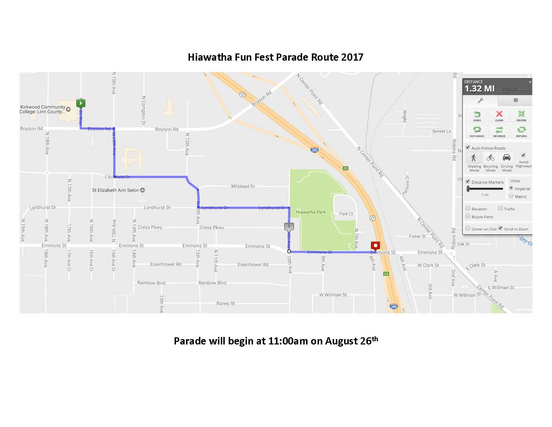 Parade Route 2017