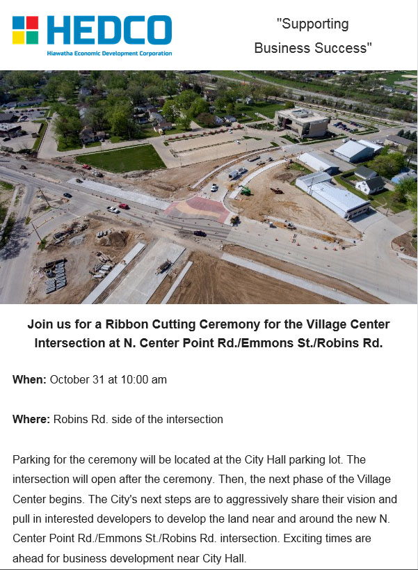 Join us for a Ribbon Cutting Ceremony for the Village Center