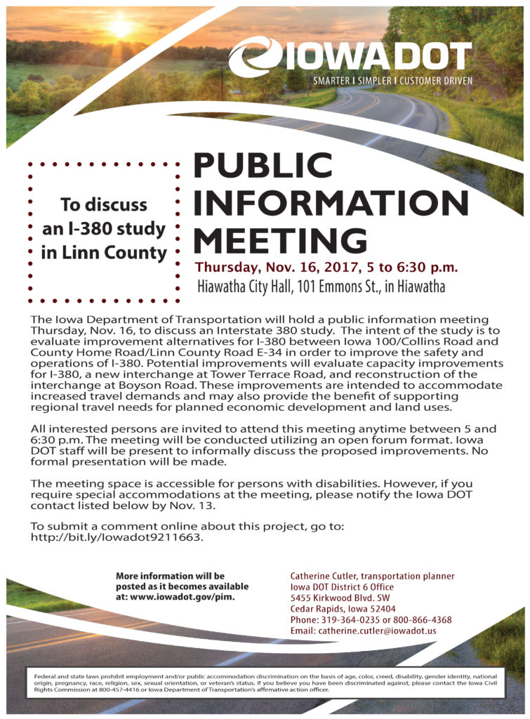Hiawatha Copy - FINAL IDOT Public Info Meeting Flyer