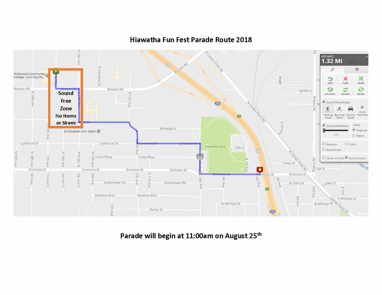 Parade Route 2018