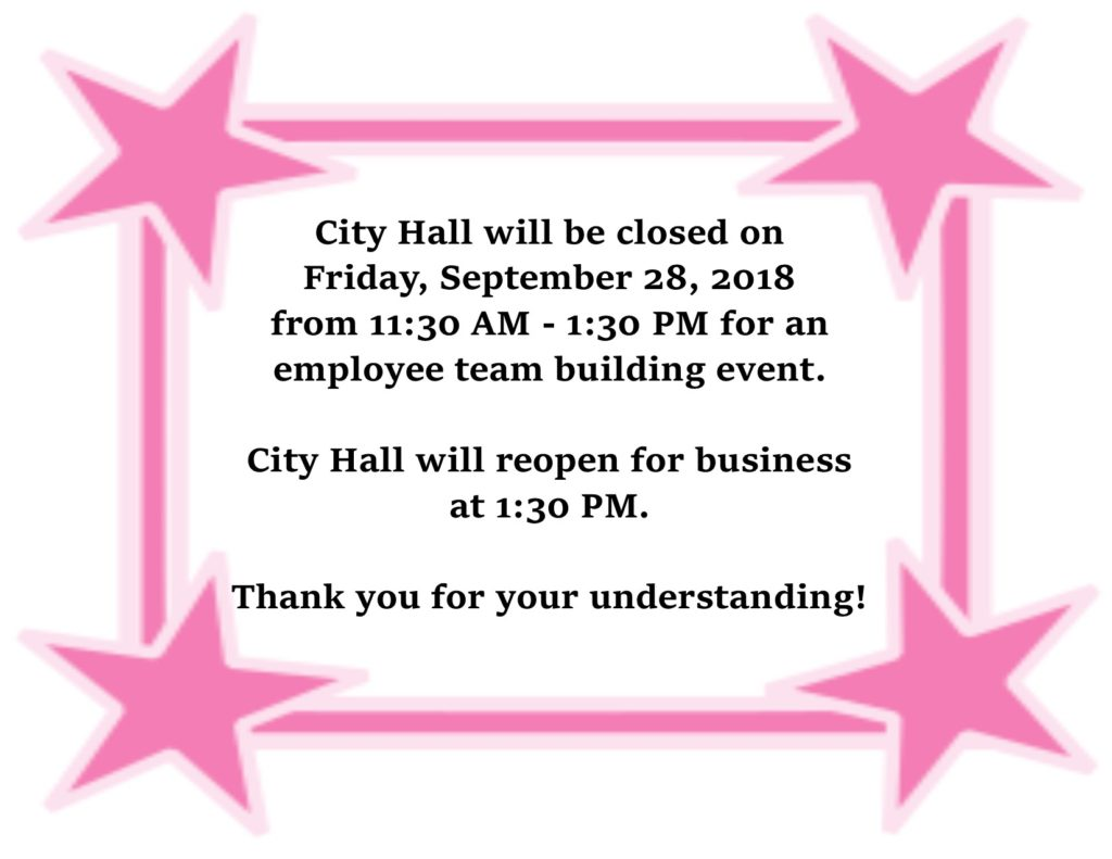 Closed for employee picnic 2018