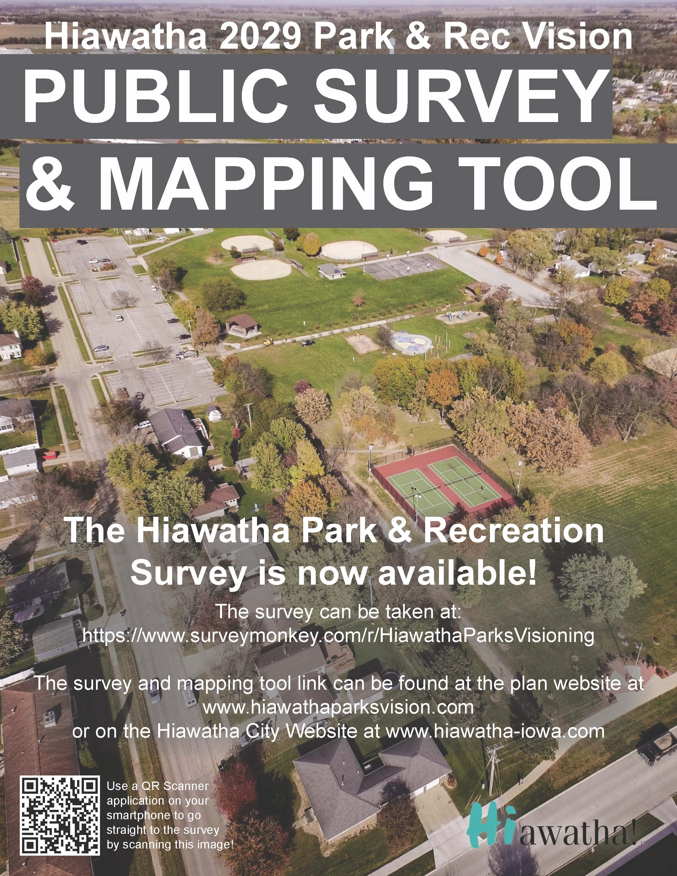 Hiawatha Parks Survey Flyer