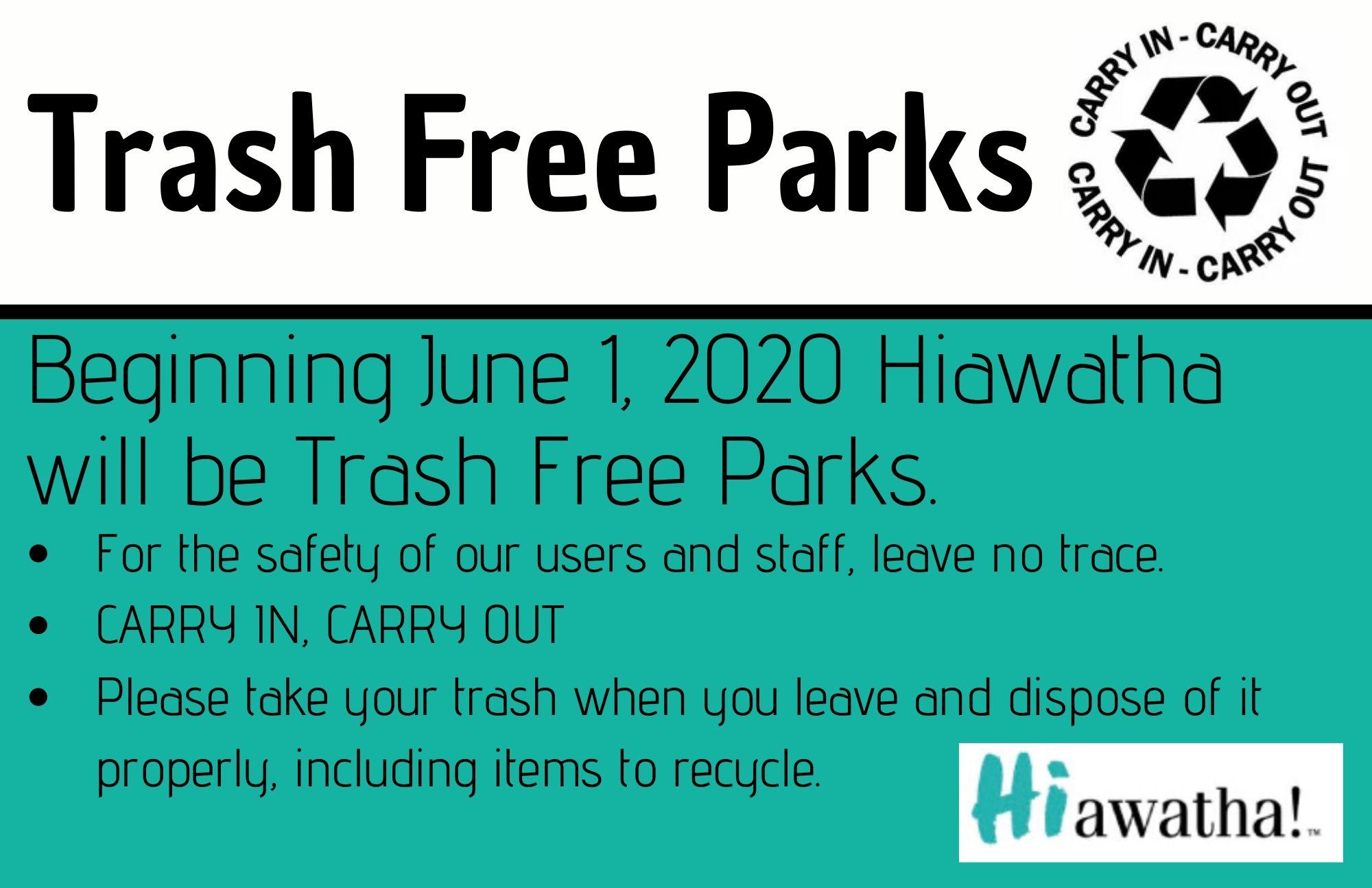 Trash free parks