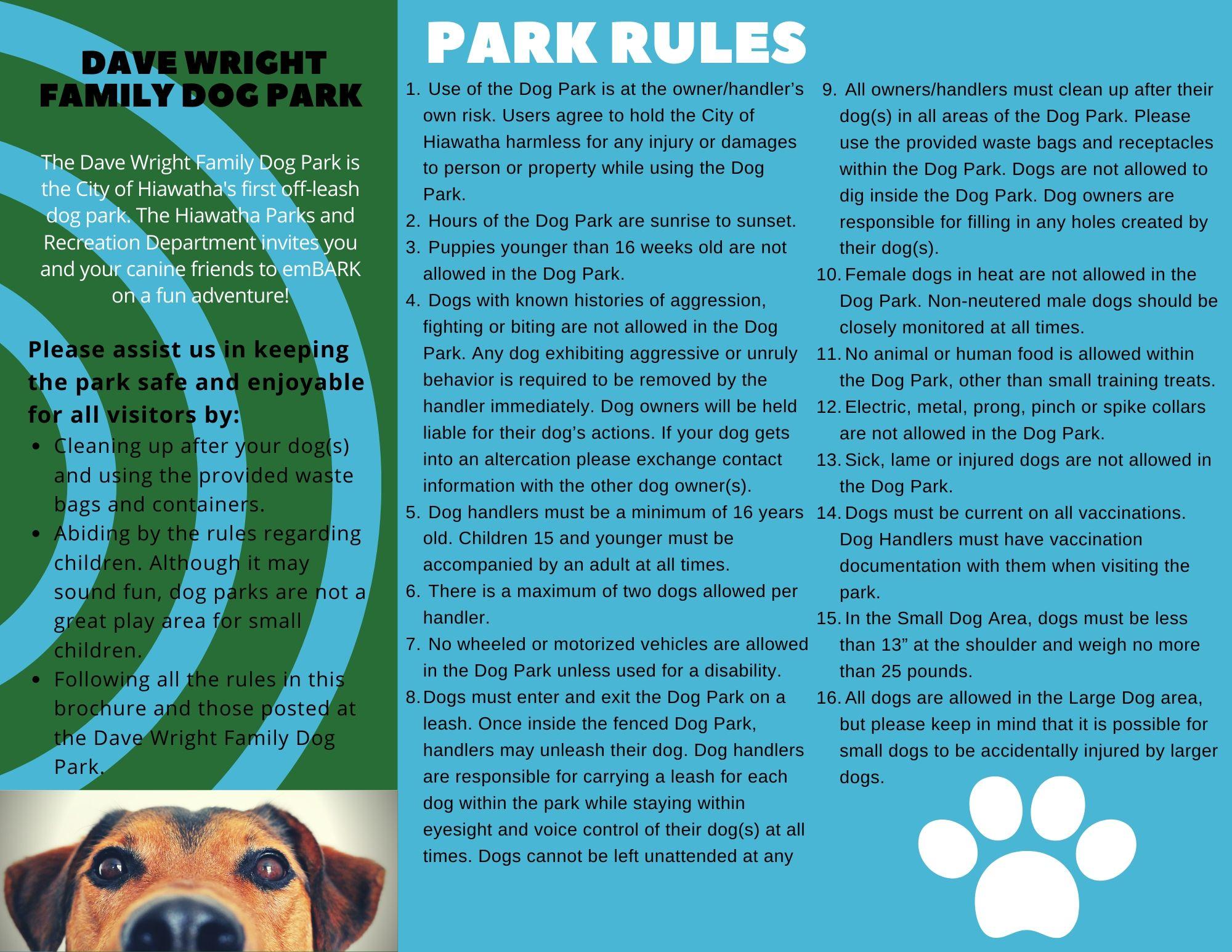 dog park brochure 2