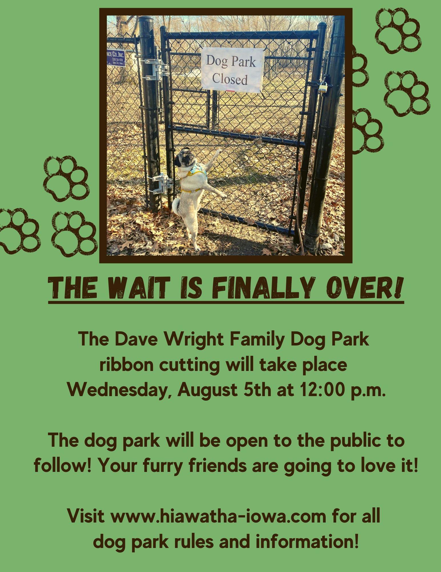dog park opening