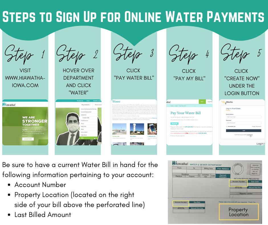 Steps to Sign Up for water payments