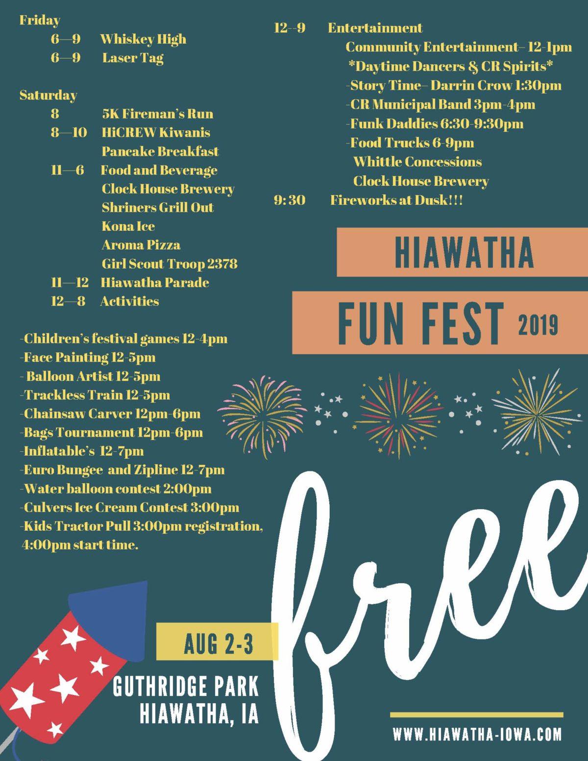 Hiawatha Fun Fest 2019