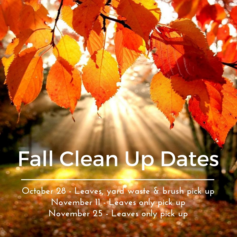 Fall Clean Up Dates